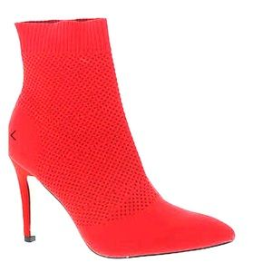 Red ankle boots. Size 8.5